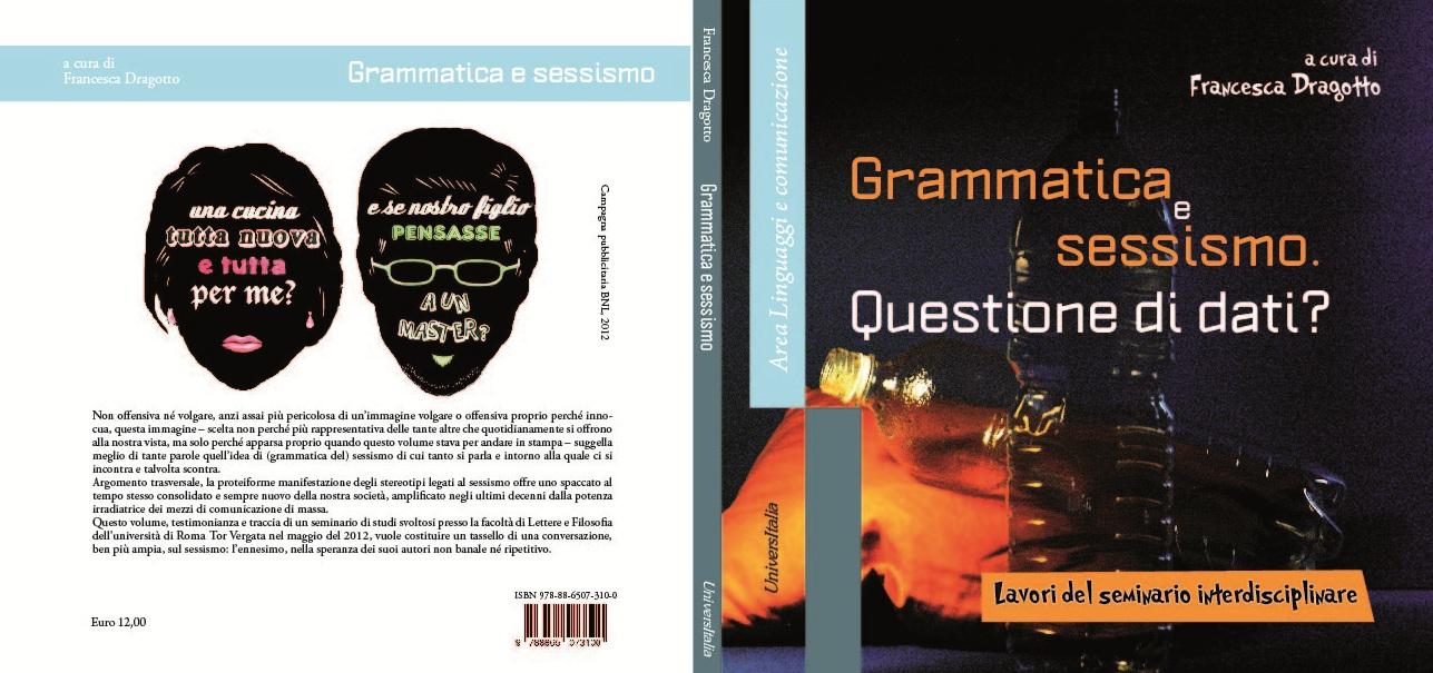 Grammatica e sessismo. Copertina.